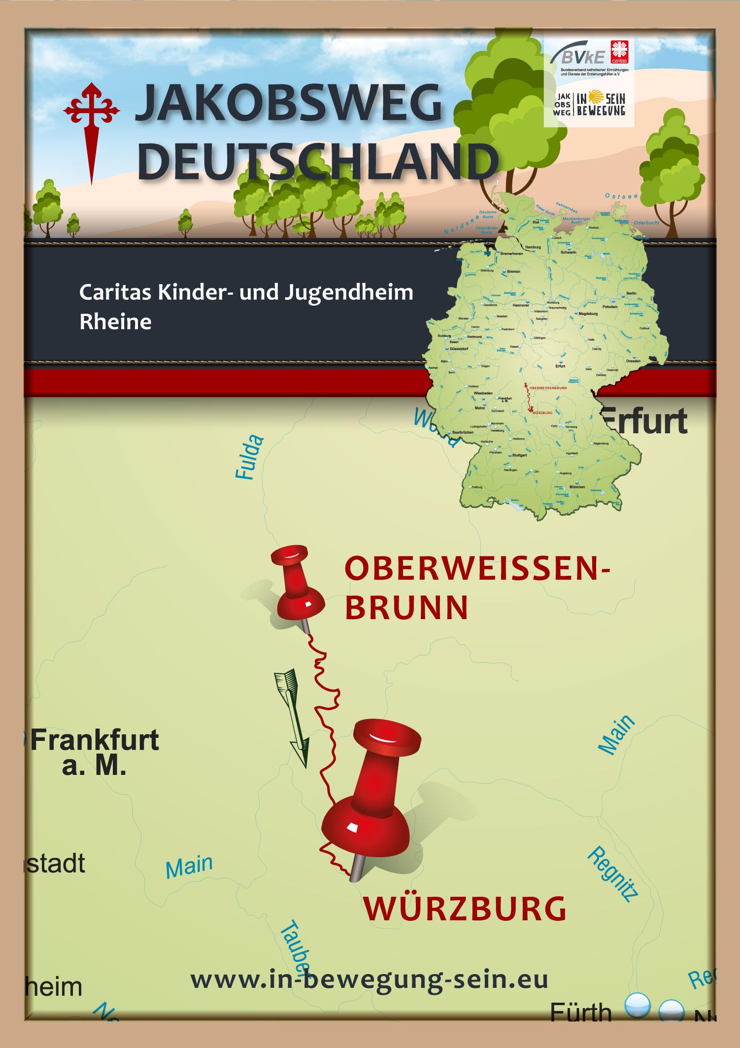 Posterkarte-Caritas-Kinder-und-Jugendheim-Rheine-Plakat