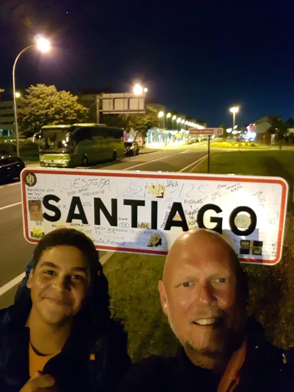Carlos und Jörg bei der Ankunft in Santiago