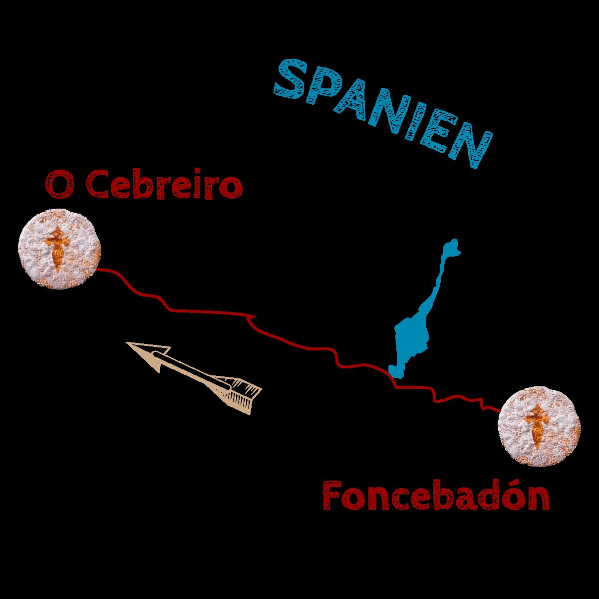 Foncebadon-O-Cebreiro-Spanien