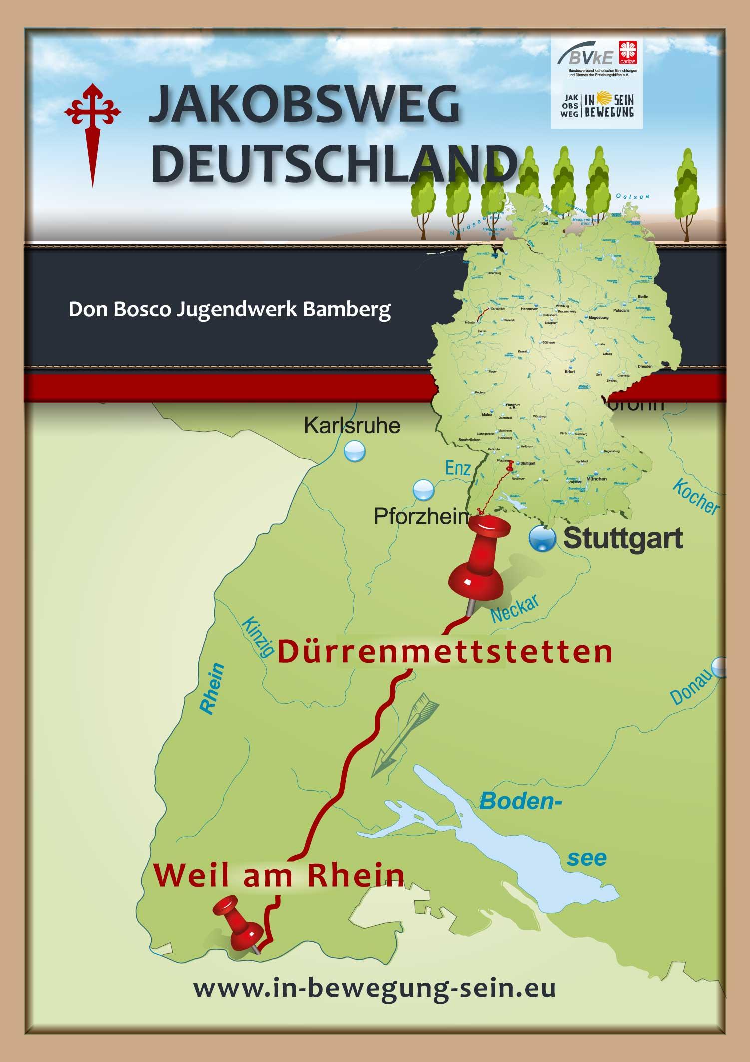 Posterkarte-Don-Bosco-Bamberg-Jakobsweg-Dürren-Weil-am-Rhein-a